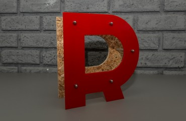 Дизайнерские буквы для оформления витрин
