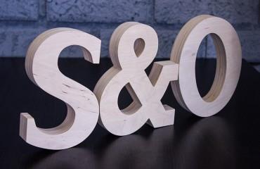 Утолщенные буквы из фанеры