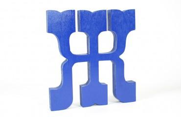 Окрашенные утолщенные деревянные буквы