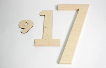 Деревянные цифры