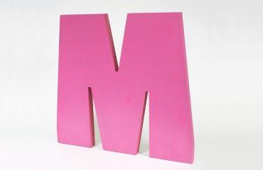 Окрашенные стоящие буквы из МДФ