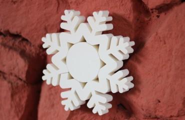 Цветные снежинки из пеноплекса d20 см