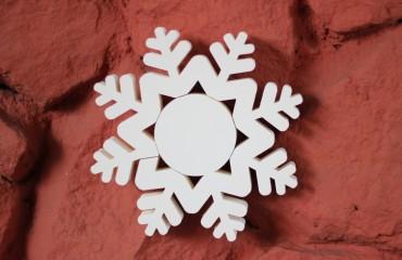Цветные снежинки из пеноплекса d30 см