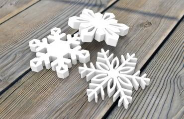 Снежинки из пенопласта 50 мм, d40 см
