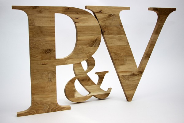 Буквы из дерева особых пород